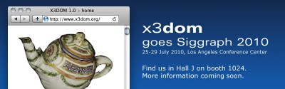 x3dom goes siggraph