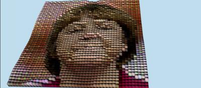 Pixelfaces in x3dom