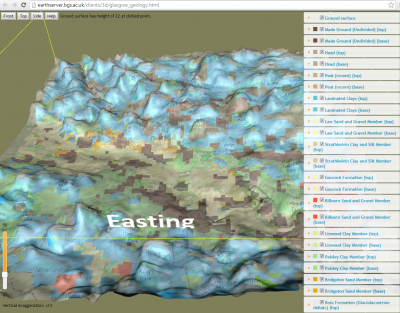 Geological model viewer