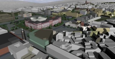 CityServer 3D Visualization of Darmstadt